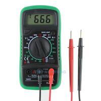Digital LCD Multimeter Voltmeter Ammeter Ohmmeter Widerstand AC DC Tester Meter