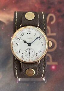 Elgin 1903 Keystone Jboss Wire Lug  0 Size Grade 269 Vintage Trench Watch Nice