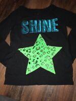 Justice Size 14 Crew Neck Sweatshirt Shine Star
