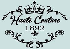 Schablone**Haute-Couture -VINTAGE**A4****für Stoffe, Möbel usw.- ** Nr.: 811