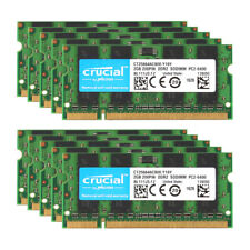 10pcs Crucial 2GB 2RX8 DDR2 800MHz PC2-6400S 200pin Laptop Memory Sodimm RAM @BM