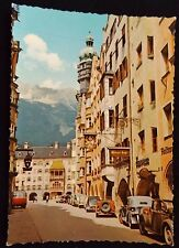 Vintage Postcard Innsbruck, Austia - Great Town View Old Cars & Mountains