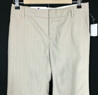 New GAP Dress Pants 1 Reg XS Modern Fit Flare Beige Pink Pin Stripe Washable NWT