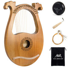 Lyre Harp 16 String Solid Mahogany with Pickup Tuning Harmer Carry Bags For Gift