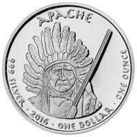2016 Native American Silver Dollar Apache Rattlesnake 1 oz Silver Proof SKU50925