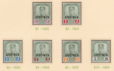608  MALAYA - JOHORE 1922 SULTAN  SPECIMEN set of 23 - only about 400 produced