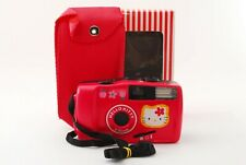 UNUSED! Hello kitty 35mm Compact Red Flash Film Camera Japan great for Instagram