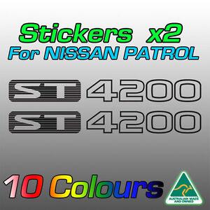 Nissan Patrol ST4200 ST 4200 stickers decals for GU model   **Premium quality***