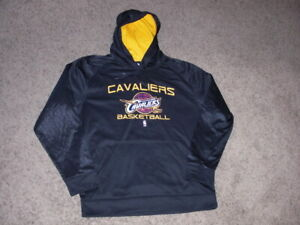 CLEVELAND CAVALIERS black athletic Exclusive Collection HOODIE Sweatshirt Large