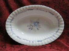 Paragon Morning Rose, White w/ Blue Rose: Oval Vegetable / Serving Bowl, 10.25""