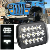 "5x7"" 7x6"" LED Headlight Hi-Lo Beam Halo DRL For Jeep Cherokee XJ Chevrolet Truck"