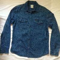 LEE JEANS MEN'S WESTERN L/S DENIM SNAP SHIRT SLIM L RARE