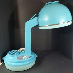 Vintage Lady Schick Portable Consolette Hair Dryer Model 307 Aqua Blue Works!