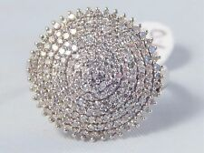 Absolutely Fabulous 1 Carat of Diamonds Sparkly Cocktail Ring Size P