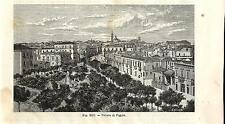 Stampa antica FOGGIA Veduta Panoramica Puglia 1889 Old antique print