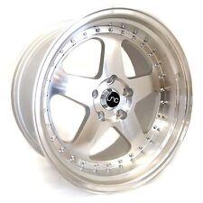 "18"" Wheel JNC010 18x9 18x10 5x114 30et Silver Machined Rims Rotiform ROC Reps"