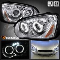 For 2004-2005 Subaru Impreza Crystal Clear Lens LED Halo Projector Headlights