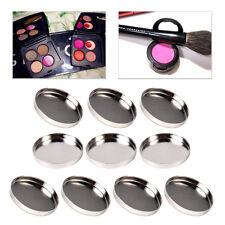 10x 26mm Empty Magnetic Round Eyeshadow Pigment Palette Powder Make Up Tin Pans