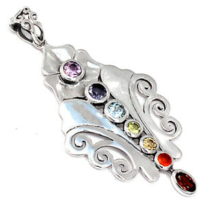 Healing Chakra 925 Sterling Silver Pendant Jewelry SSS CP230