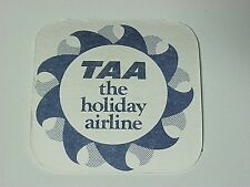 VINTAGE TAA AIRLINE BEER COASTER / MAT, GREAT KEPPEL ISLAND, BINTANG,SINGLET,NEW