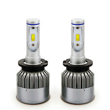 2x D2S D2R LED Headlight Bulb Conversion Kit 72W Flip Chip 6000K Crystal White