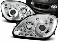 OFFER Headlights Mercedes R170 SLK 96-04 Angel Eyes Chrome IT LPME14EM XINO IT