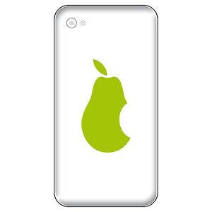 6 Aufkleber 5cm grün Birne statt Apfel Handy Tattoo Deko Folie Apple verarsche