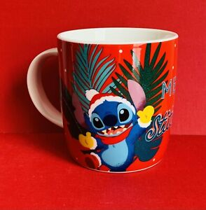 Disney Stitch Merry Stitchmas Lilo And Stitch New Tagged Mug 400ml Christmas