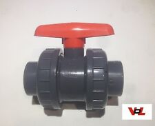40mm VDL Tap PVC Metric Double Union Valve Marine Tropical Aquarium Pipework