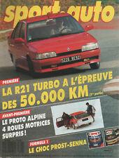 SPORT AUTO 316 1988 F1 GP BRESIL R21 2L TURBO TESTARSSA PORSCHE GEMBALLA 375ch