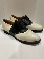 Awesome Vintage Leather Town Country Size 90 E Saddle Shoes Ditty Boppers Great