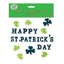 Happy St Patrick's Day Gel Clings