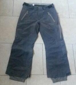 BONFIRE pants,GORETEX taped,vents,mesh lined,gray,womens L,mens M,ski snow board