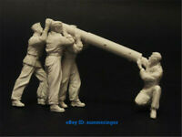 1/32 Scale WWII Soldier Figure Resin Model Unpainted Unassembled