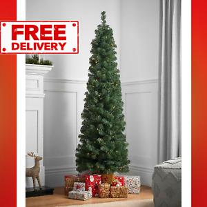Green 6ft Pre-Lit Slim Christmas Tree