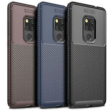 Case For Huawei Mate 20 Pro/Mate 20 Case Carbon Fiber Texture Soft TPU Back Case