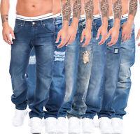Rock Creek Herren Designer Denim Jeans Hose Blau Übergrößen W29-W44 NEU Multi7