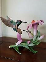 "Lenox Garden Bird Porcelain Figurine ""The Magnificent Hummingbirds"""