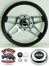 """1976-1995 Cherokee Wagoneer steering wheel JEEP 13 1/2"""" 4 SPOKE wheel"""