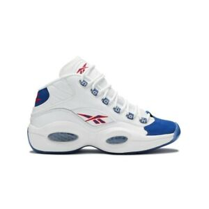 Reebok Question Mid 'Double Cross' GS (White/Croyal/Prired) Kids Shoes FV8122
