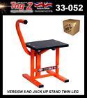 New Tag-Z HD Jack-Up Bike Stand Twin Leg Pop Up Stand Orange Large MX Enduro
