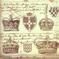 Rice paper -Crowned Manuscripts- Decoupage Scrapbooking Sheet Craft