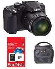 Nikon Coolpix P510 16.1 Megapixel Bridge Camera - Black KIT WITH CASE AND CARD