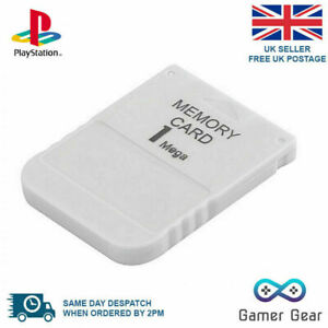 PS1 Memory Card 1MB For for Sony Playstation 1 PSX ONE