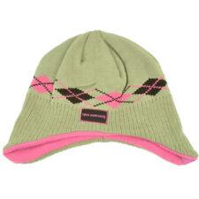 New Hampshire Argyle Ear Flap Knit Beanie Toddler Khaki Pink State USA Hat Girl