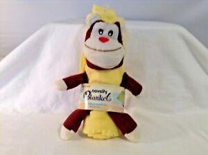 Infant Baby Monkey Chimp Novelty New Blanket Yellow brown