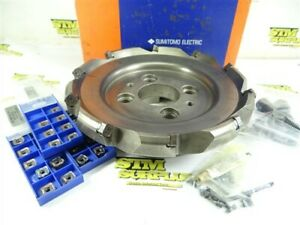 """SUMITOMO 10"""" INDEXABLE BEVEL EDGE FACE MILL MODEL DGC41000R +27 INSERTS"""