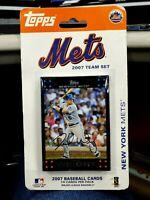 2007 New York Mets Topps Baseball Cards Team Set - 14 Baseball Cards