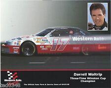 "1994 DARRELL WALTRIP #17 WESTERN AUTO ""INSET PICTURE"" POSTCARD!!"