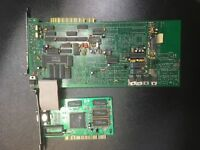 Vintage rare lot of CIRRUS LOGIC PCI videocard and ISA videocapture card